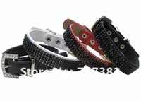 Free shipping Fashion dog belt black rhinestone pet lanyard acrylic dog strap pet producuts