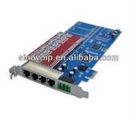 8 port FXS/FXO analog Asterisk PCI-E card(4U)