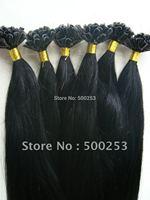 Jet Black Color U Shape Tip Indian Virgin Human Hair Extension
