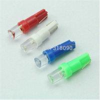 50pcs T5 Bright 1 LED Mini Wedge concave lens Light use for  Dashborad light DC12V Five Color T5 Interior LED Light