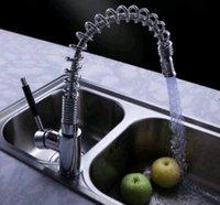 Faucet qing 0200133 Chrome Single Haedle Pull Out Centeaset Kitchen Faucet