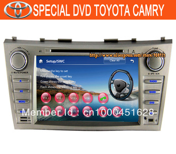 High Quality Car Dvd 2 Din for TOYOTA CAMRY Build-in GPS Radio With Ipod Mp3 Player Mp4 Player