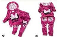 4sets Baby Garment Sport Suits Fashion Butterfly Sets free shipping