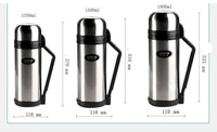 1.8L large volumn stainless steel Vacuum flask thermos insulation bottle for water holding and journey use-free shipping