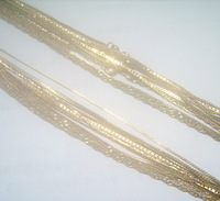 Free shipping 10Pcs/lot 1mm Mix Style Gold Plated Necklace Chain 16inch GO6*