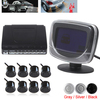 Weatherproof 8 Rear Front View Car Parking Sensors Reverse Backup Radar Kit System with LCD Display Monitor, Free Shipping