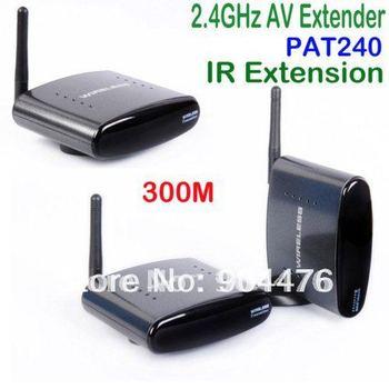 Cheapest&Free shipping!AV Sender &IR Remote Extender Wireless Transmitter 1 transmitter+2 receivers PAT240