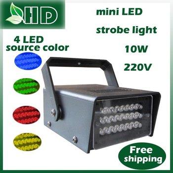 Free shipping mini KTV 4 LED light color choose strobe light