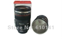 Freeshipping stainless steel liner thermal Generation 5 Coffee camera lens mug ,lens cup caniam logo,not canon nikon