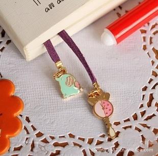 Cute Rilakkuma Bear Chammy Pendant Bookmark Book Office Stationery 50pcs/Lot wholesale-Best Gift Novelty Toy Free shipping