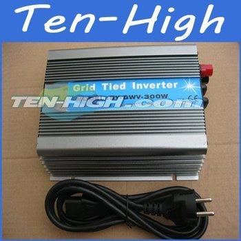 Fedex freeshipping! 300W Grid Tie Inverter for solar panel or wind turbine,Wide voltage input DC 15V-60V(24V 48V) Power Inverter