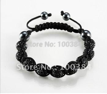 wholesale jewelry shamballa Tresor Paris  10mm CZ bead color Crystal European style Bride bracelet fashion jewelry