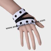 100pcs/lot, fashion bracelet,punk style zipper leather bracelet,5 colors available,DHL/FedEx free shipping