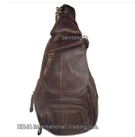 FREE SHIPPING-Wholesale&Retail Fashion New Women&Lady Top Real Leather Genuine Leather Brown Shoulder Bag chest pack backpack