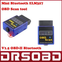 ELM327 V1.5 Mini ELM 327 OBDII OBD-II OBD2 Protocols Auto Diagnostic interface works on Android Torque Bluetooth MINI327(China (Mainland))