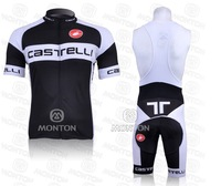 free shipping CAS black  Short Sleeve Cycling Jerseys and BIB Shorts Set/Cycling Wear/Cycling Clothing