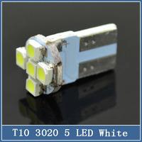 5x T10 W5W 194 3020 5 LED 12V auto car turn signal interior clearance light Lamp bulb Super Bright White