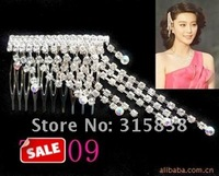 Free delivery, the bride hair comb, wedding wear jewelry, alloy set auger tassel headwear products.