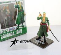 "Free Shipping Cool 6"" One Piece Roronoa After 2 Years Roronoa Zoro THE NEW WORLD Zero PVC Action Figure Collection Model Toy"
