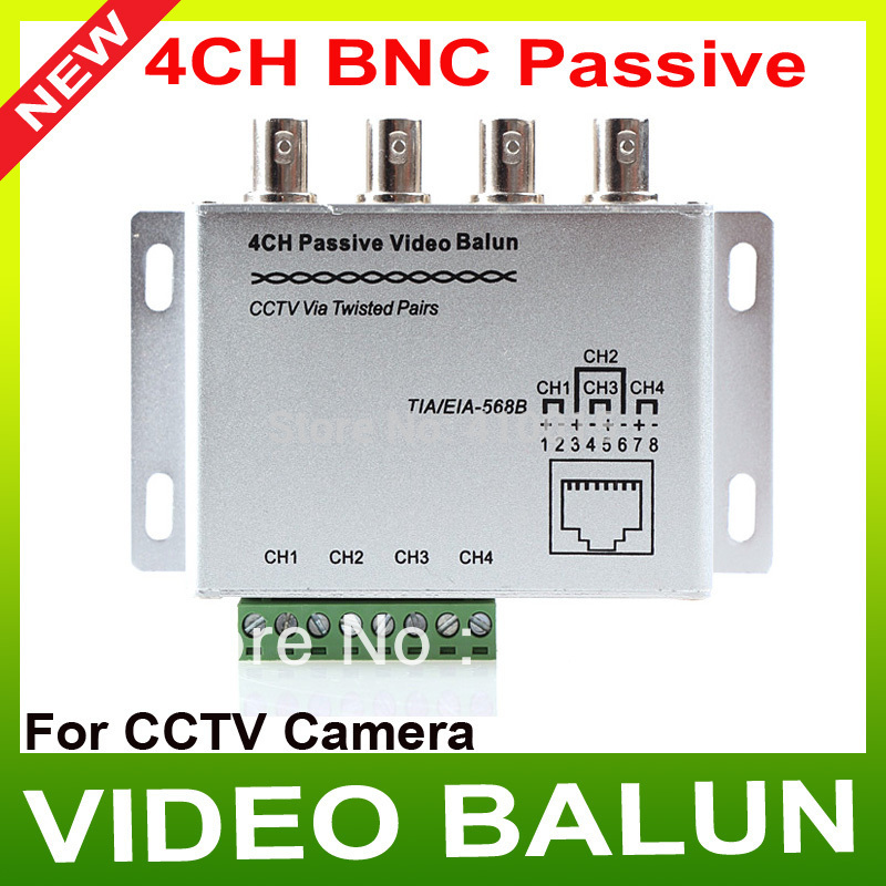 SURGE 4 ch channel active Passive Video Balun rohs Transmitter Receiver UTP Cat5 RJ45(China (Mainland))