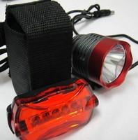 Free shipping 1800 Lumen CREE XM-L T6 LED Bicycle bike Light Headlamp HeadLight Lamp 6400mAh 8.4v battery Charger Red