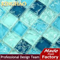 2014 Bathroom Tiles Pastilhas De Vidro Para Banheio Backsplash [kinghao] Supply Mosaic Wholesale Ice Crack Mix Glass Kic2301