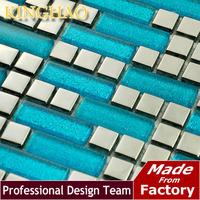 Glass Brick Bathroom Tiles [kinghao] Ship Wheel Building Material Glass Tile Wall Cladding Living Art Silver Wallpaper Kf154810