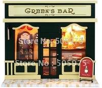 european miniature shop dollhouse,Handmade house,wooden house