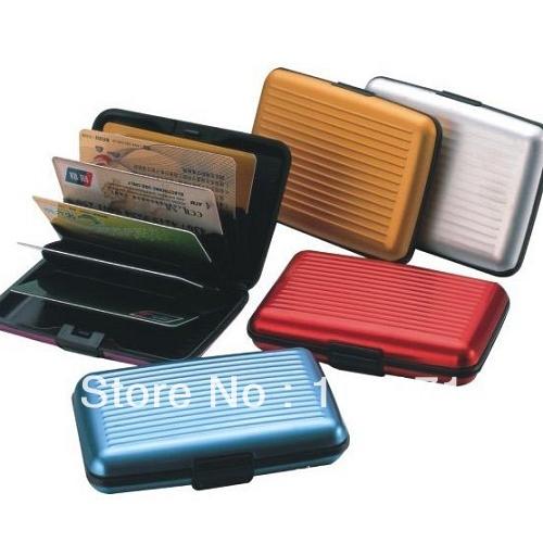 en aluminium etanche affaires id de carte de credit portefeuille cas