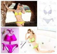 High quality! multiple colors, fashion swimwear,sexy bikini with bra pads,G108