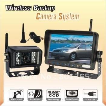 Free shipping Brand 7inch Wireless Backup Rear View Reversing Camera Monitor  Car IR CCD Camera