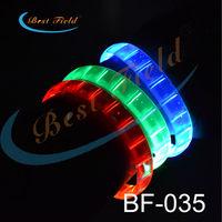 Free shipping 10pcs/lot 24*1.5cm 5color led bracelet flashing Multicolor bracelet blinking  bracelet for party