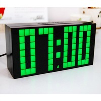 FREE SHIPPING! Advertising Thin Memo Large Number Led Alarm Wall Clock