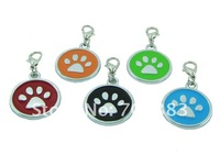 Paw  pet id tag charm Classic cat tag items pet new product mixed order acceptable