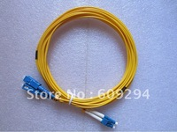 LC to SC Fiber Optical Patch cord,Duplex,SM,9/125,3mts, single mode PVC fiber cable 1pcs