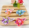 Freeshipping!New Girls/Kids/Infant/Baby Colorful Rose Hairclips/Hairpins/Hair Accessories/ Korean Style/Fashion Gift/Wholesale