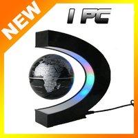 Free shipping LED power magnetic levitation floating world map 3 inch antigravity globe magic gift