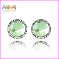 Free Shipping Wholesale Crystal Pendant Earrings 8 MM Round Stud Fashion Jewelry Made With Swarovski Elements #83552