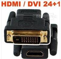 DVI 24+1 Male To HDMI Female Converter Adapter 50PCS/lot FreeSHipping