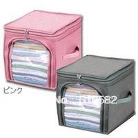Hot !New  Foldable Bamboo-charcoal Clothes Storage Box 29L (5cm up  ),3pcs/lot