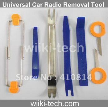 Free shipping Universal Car Radio Stereo Trim Molding Removal Tool Set Kit 8PCS