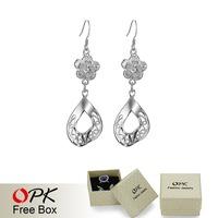 OPK JEWELRY Free Shipping 925 Silver Earrings,925 silver jewelry  wholesale  classics  jewelry  937