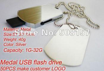 Free shipping wholesale price  32g usb flash memory medal usb  real capacity 50pcs make cutomer LOGO high quality hot selling
