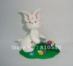 Easter cute animal PVC clay Applique ornaments