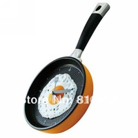 Free shipping  Guaranteed 100%  Hot sale  eggs fired  pan shaped  wall clock Home decoration  Wholesale Or Retail