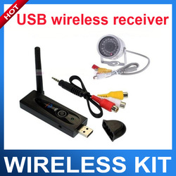 30 IR lED15m Night vision 380TV lines 2.4G Wireless IR Mini CCTV camera with USB wireless receiver Kit(China (Mainland))
