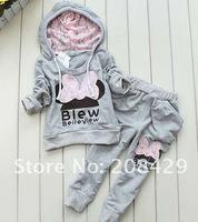 3colors kids sport wear Baby Clothing Set girls sport suit Baby Clothes Baby Garment Sport Suit Fashion Butterfly Set