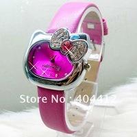 10Pcs/lots Multicolor Hello Kitty Watch,Sweet Cute Fashion Wristwatch Of Girl's Free Shipping
