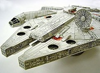 2014 New Arrived Star Wars Millennium Falcon Paper Model Ship,Kid's DIY toy Intellectual Resources,Part Free Shipping Wholesale
