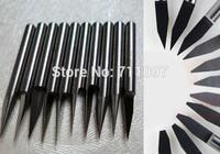 10 Pcs 3.175*20D*0.1mm tungsten carbide Flat Bottom Carbide Cutter Free Shipping
